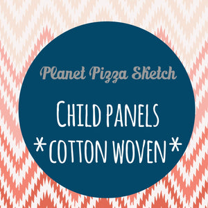 FEBRUARY RETAIL - Planet Pizza Sketch - CHILD PANELS COTTON WOVEN