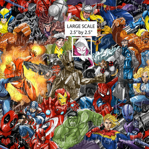 DECEMBER RETAIL - Superhero Scramble LARGE SCALE - Cotton Lycra and Cush ONLY