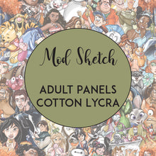 Load image into Gallery viewer, FEBRUARY RETAIL- Mod Sketch - Adult Panels COTTON LYCRA