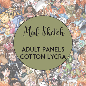 FEBRUARY RETAIL- Mod Sketch - Adult Panels COTTON LYCRA
