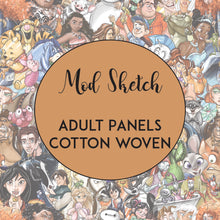 Load image into Gallery viewer, RETAIL- Mod Sketch - Adult Panels COTTON WOVEN