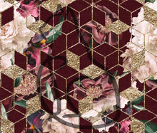 Load image into Gallery viewer, PREORDER - Burgandy Main Floral Geo - All Bases