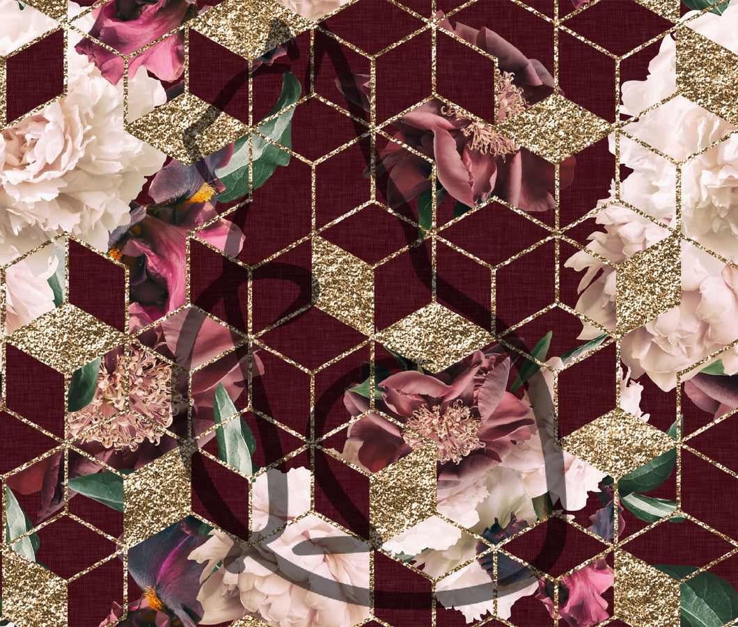 PREORDER - Burgandy Main Floral Geo - All Bases