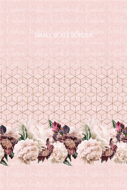 MAY RETAIL - Dusty Rose Floral Border Print SMALLER SCALE - All Bases