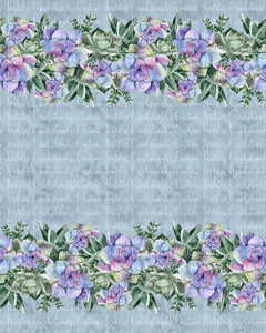 DECEMBER RETAIL - GIANT Succulent BORDER print- Available in Cotton Lycra and Bamboo Lycra