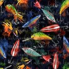 Load image into Gallery viewer, FEBRUARY RETAIL - Fishing Lure Main- Available in Cotton Lycra, Bamboo Lycra, Woven and Swim!