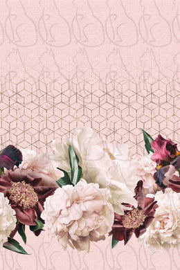 MAY RETAIL - Dusty Rose Floral Border Print - All Bases