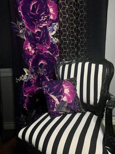 PREORDER - Purple on Black Floral Border Print - All Bases