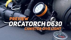 【VIDEO】OrcaTorch D630 Technical Dive Light Preview