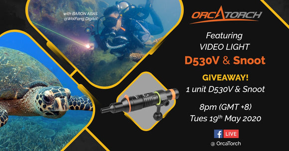 [LIVE] OrcaTorch Facebook Live #3 with Baron Abas / D530V & Snoot Dive Light