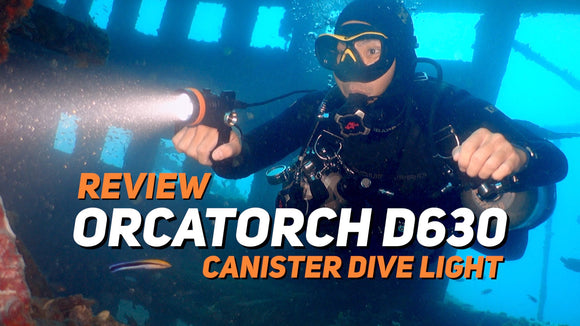 [VIDEO] OrcaTorch D630 Canister Light Review for Technical Diving