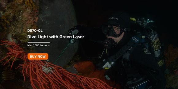 OrcaTorch D570-GL Dive Light with Green Laser