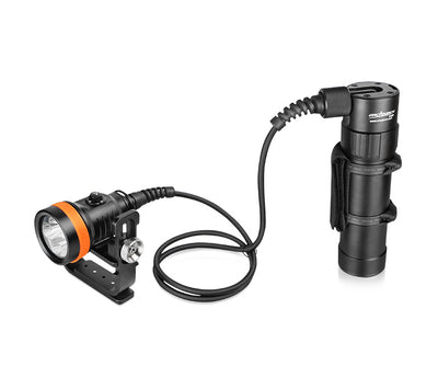 OrcaTorch D630 4000 Lumens Powerful Canister Dive Light for Cave Diving, Wreck Diving, etc - OrcaTorch Dive Lights