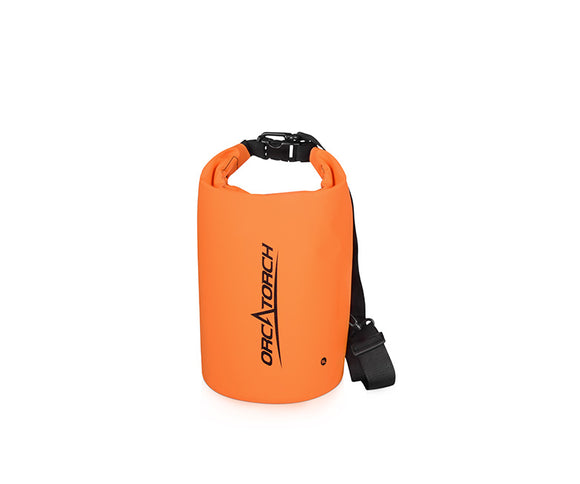 OrcaTorch 5L Waterproof Dry Bag, Roll Top Sack Keeps Gear Dry