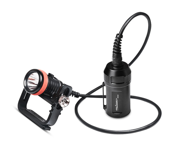 OrcaTorch D620 2700 Lumens Primary Canister Dive Light for Technical Diving