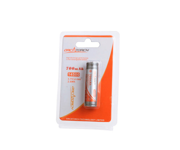 OrcaTorch 14500 Rechargeable Battery - 700mAh - OrcaTorch Dive Lights