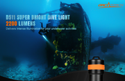 OrcaTorch D511 Dive Torch Max 2200 Lumens for Underwater Activities - OrcaTorch Dive Lights