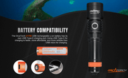 OrcaTorch D710 Max 3000 Lumens Small and Powerful Dive Light - OrcaTorch Dive Lights