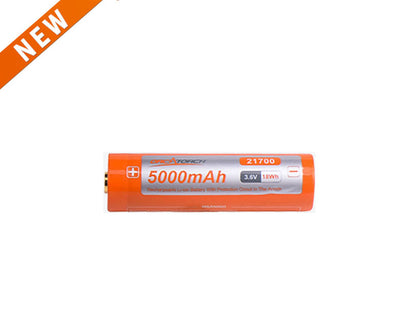 OrcaTorch 21700 USB Battery 5000mAh - OrcaTorch Dive Lights
