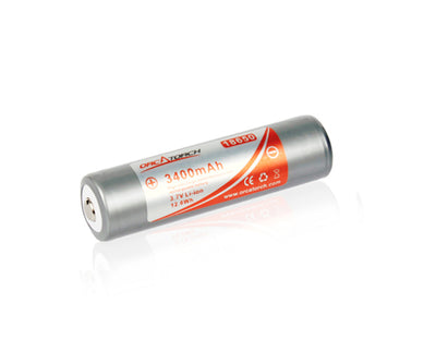 OrcaTorch 18650 Rechargeable Battery- 3400mAh - OrcaTorch Dive Lights