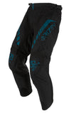 STEALTH PANTS - MOTO - BLACK/TEAL