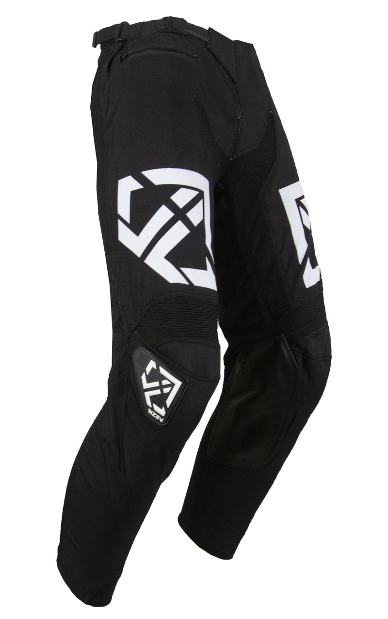 PHAZE 1 PANTS KIDS - MOTO - BLACK/WHITE