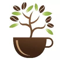 Eco coffee store logo