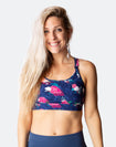 floral crossover nursing sports bra