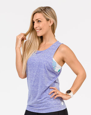 mum in a lilac breastfeeding top front view