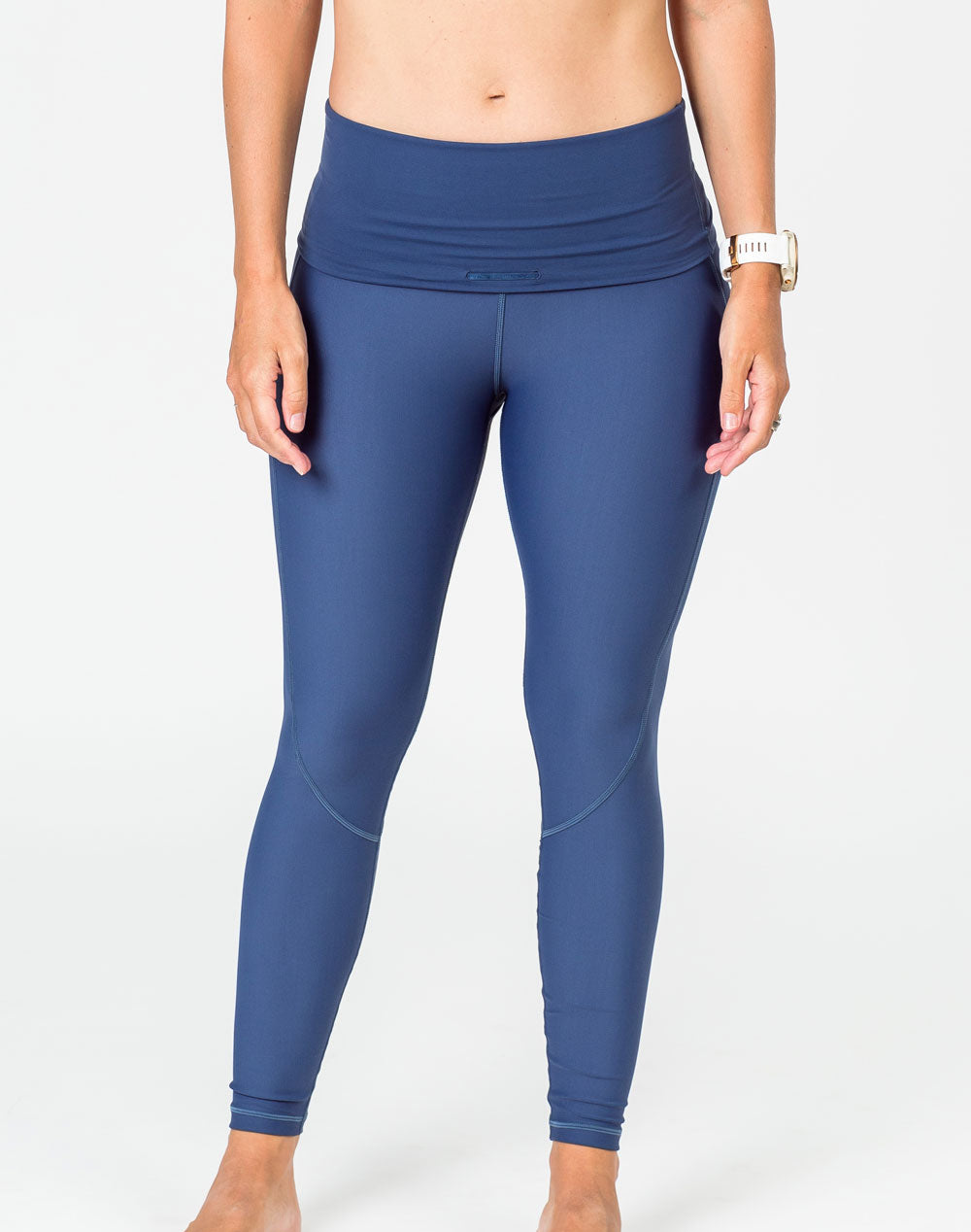 Maternity Leggings - Classic Full Length Bondi Blue