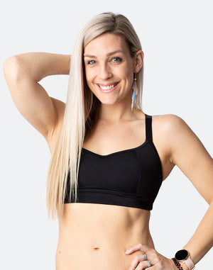 best rated racerback sports bras in black