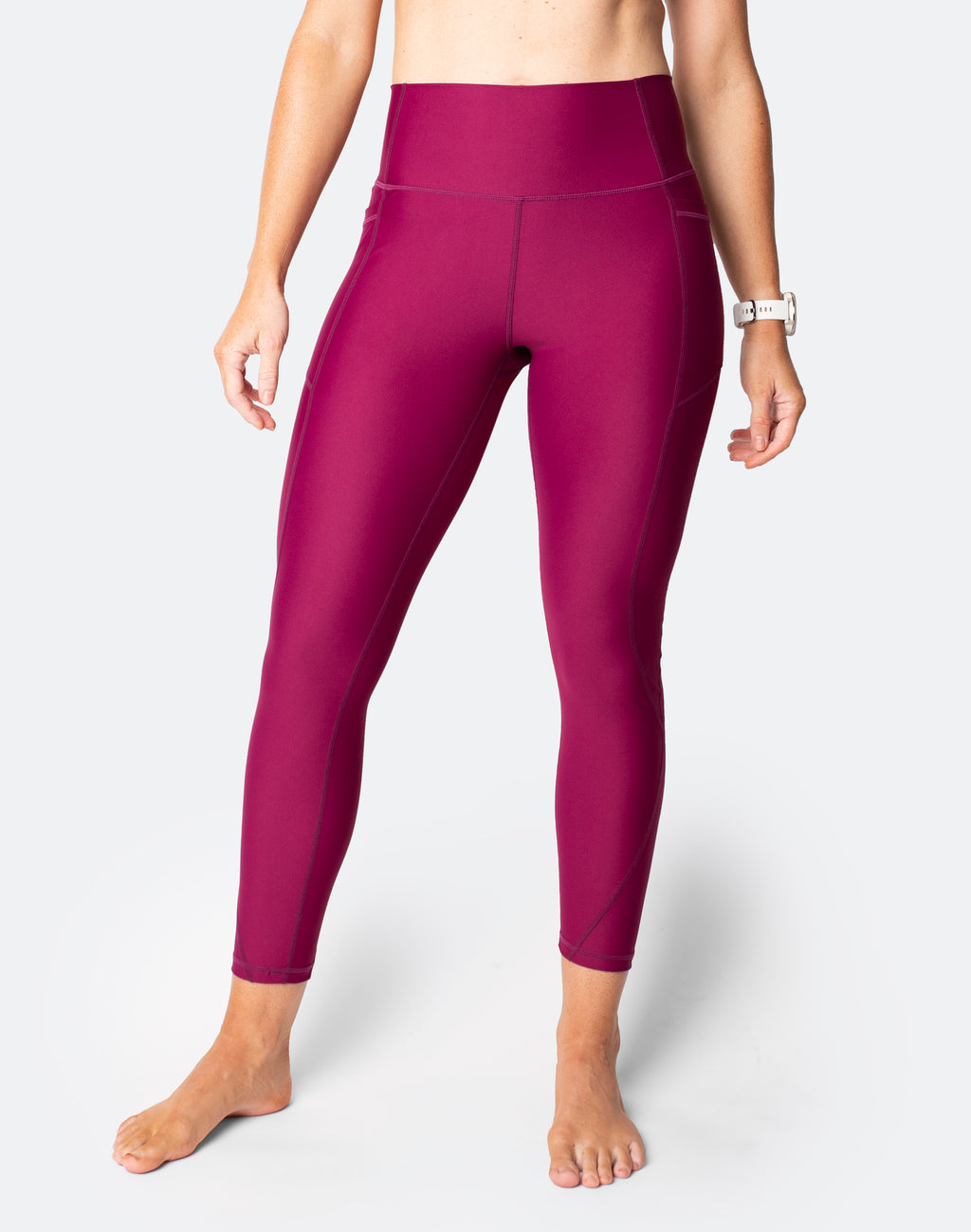 Power FIT - High Waisted Tights 7/8 Plum *PRE ORDER*