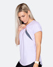 ** CLEARANCE ** Breastfeeding T-Shirt - Scoop Tee Lilac