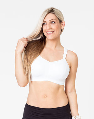 ultimate bra nursing sports bra high impact with dropdown cups