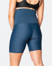 back view of woman wearing aspen bike shorts