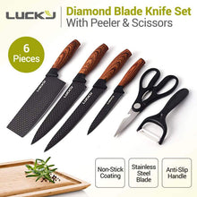 6pcs Nordic Diamond Blade Professional Kitchen Knife Set