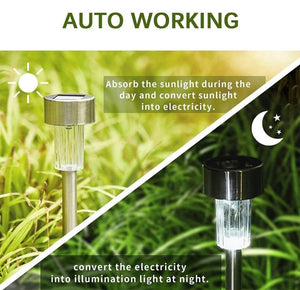 Stainless Steel Solar Outdoor Garden Lamp
