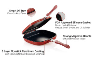 Double Non-Stick Pan
