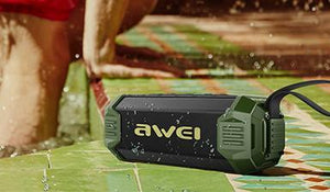 Awei Rugged, Water Resistant Wireless Speaker + Powerbank