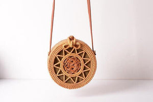 Bali Handwoven Natural Ata Grass Shoulder Beach Bag