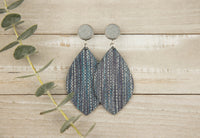 Metallic Denim Earrings