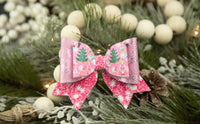 Pink Nutcracker and Snowflake Grace Bow