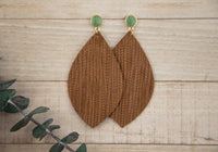 Brown Palm Leaf Earrings