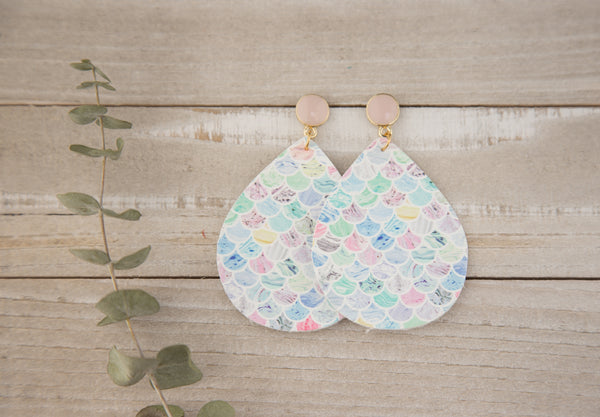 Marbled Mermaid Scales Earrings