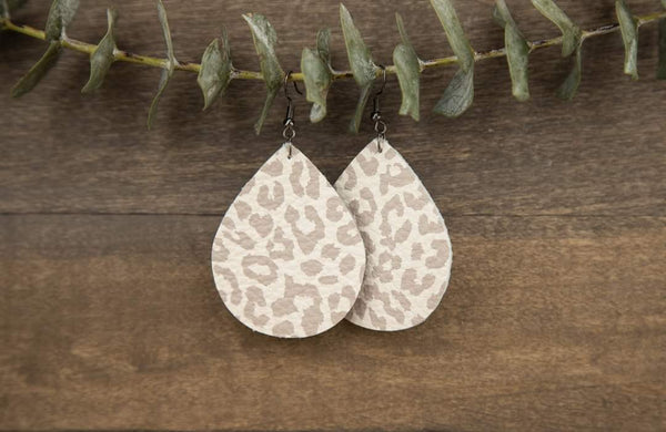 Leopard Genuine Leather Earrings