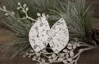 White Lace and Glitter Earrings
