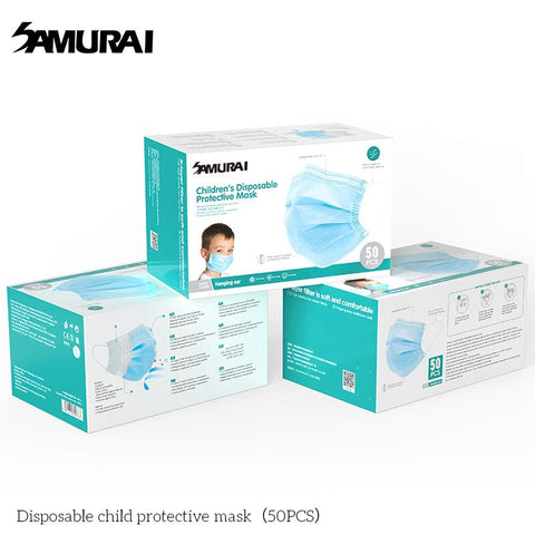 Samurai Disposable Children Protective 3-Ply Mask (50 Pieces)
