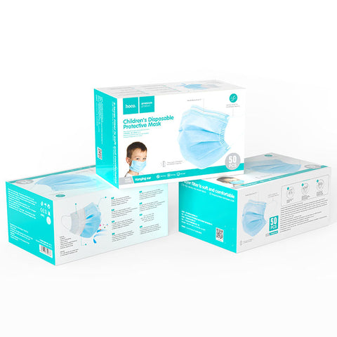 Hoco Disposable Children Protective 3-Ply Mask (50 Pieces)
