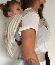 Load image into Gallery viewer, Zarpar Bebe - Natural Stripe Wrap Baby Carrier