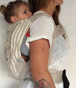 Zarpar Bebe - Natural Stripe Wrap Baby Carrier